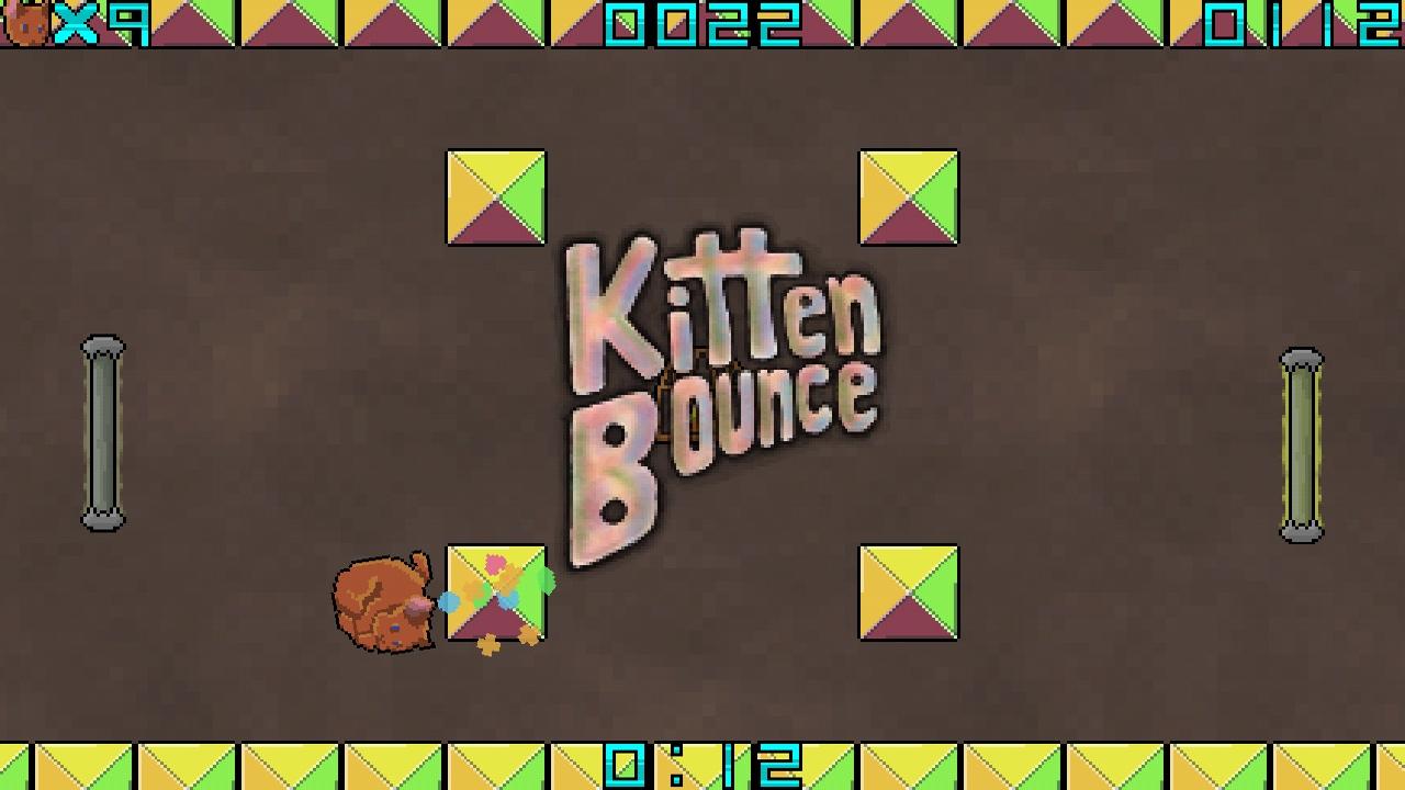 Screenshot of Kitten Bounce