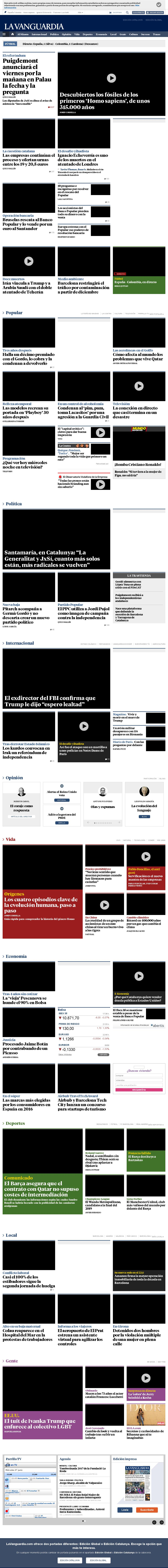 La Vanguardia at Wednesday June 7, 2017, 8:47 p.m. UTC
