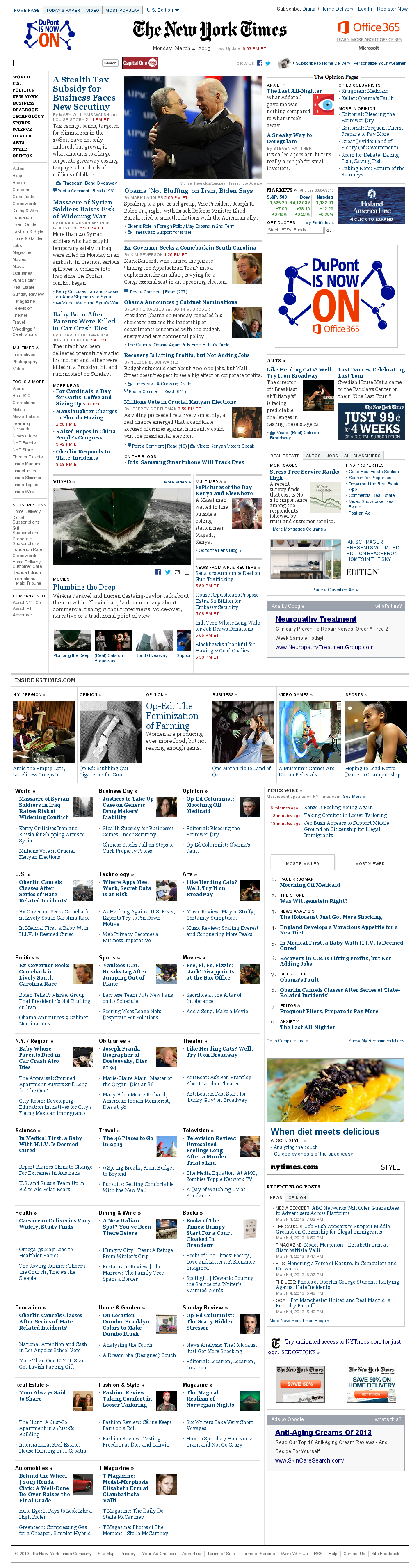 The New York Times at Tuesday March 5, 2013, 12:17 a.m. UTC