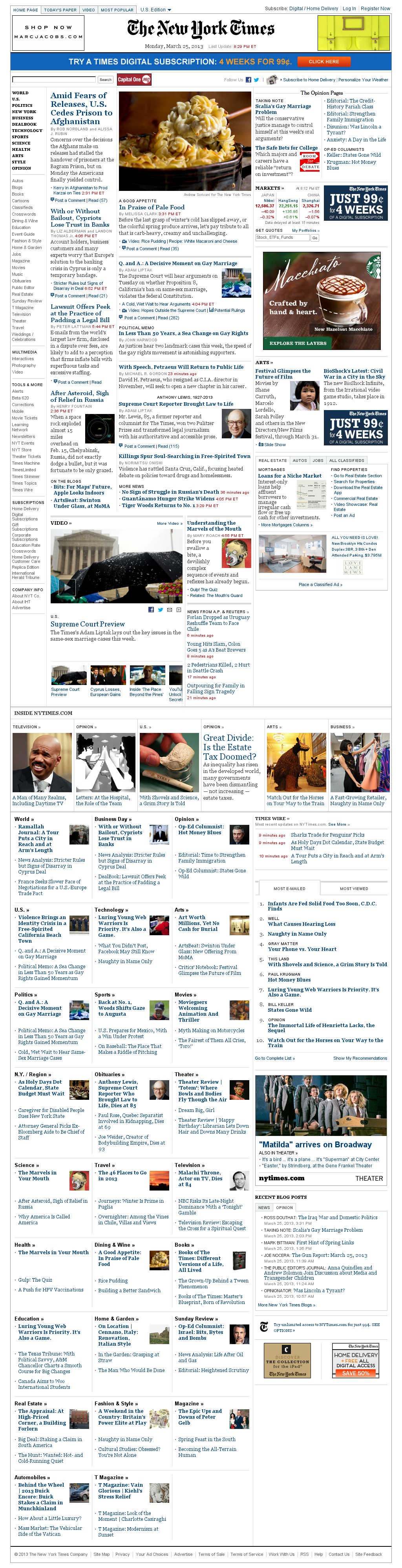 The New York Times at Tuesday March 26, 2013, 12:33 a.m. UTC