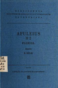 Cover of: Apulei Platonici Madaurensis Opera quae supersunt   Apuleius