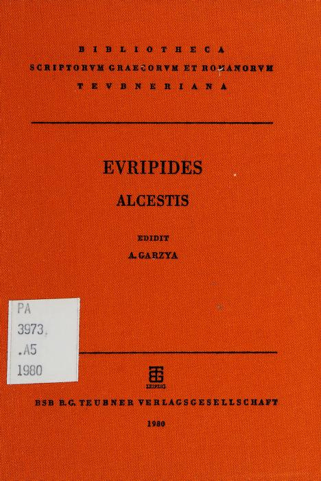Euripides Alcestic by Euripides