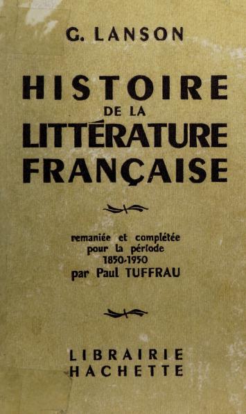 Cover of: Histoire de la littérature française   Lanson, Gustave