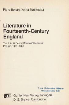 Cover of: Literature in fourteenth-century England | Piero Boitani, Anna Torti (eds.)