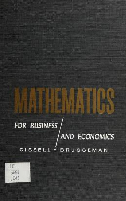Cover of: Mathematics for business and economics | Robert Cissell