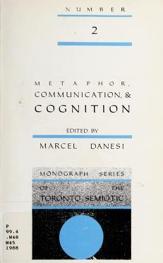 Cover of: Metaphor, communication & cognition | edited by Marcel Danesi.