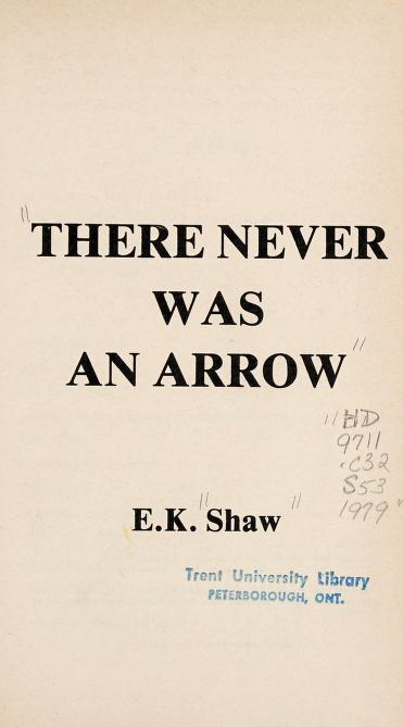 There never was an Arrow by E. K. Shaw