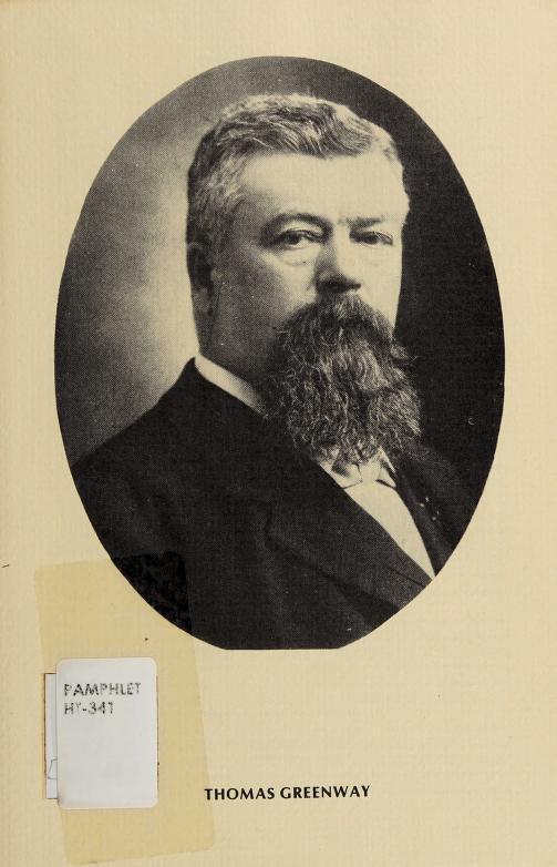 Thomas Greenway by Manitoba. Historic Resources Branch